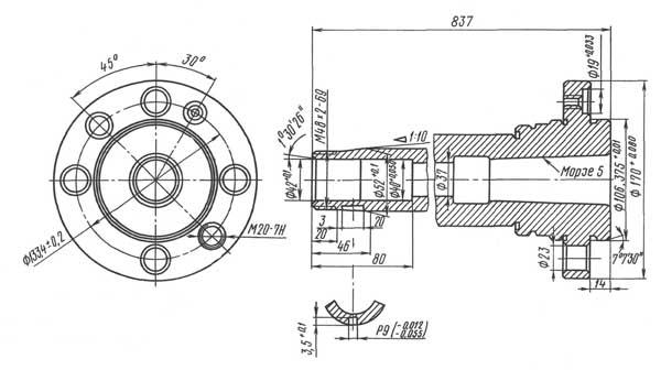 16Е16КП Посадочные и присоединительные базы станка