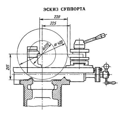 16Е20 эскиз суппорта