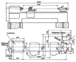 1М63 Установочный чертеж